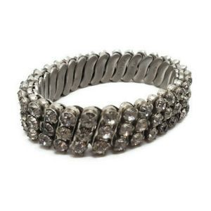 Vintage Expansion Bracelet Stretchy Rhinestone